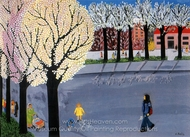 Spring painting reproduction, Valeria Zahiu