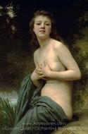 Spring Breeze (La Brise du Printemps) painting reproduction, William A. Bouguereau