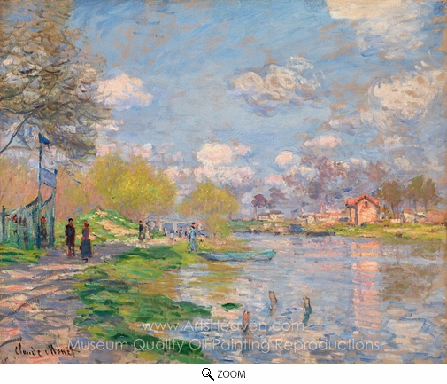 Claude Monet, Spring by the Seine oil painting reproduction