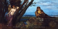 Spring Evening painting reproduction, Arnold Bocklin