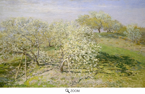 Claude Monet, Spring (Fruit Trees in Bloom) oil painting reproduction