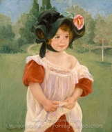 Spring: Margot Standing in a Garden painting reproduction, Mary Cassatt