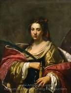 St. Catherine painting reproduction, Simon Vouet