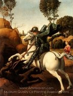 St. George and the Dragon painting reproduction, Raphael Sanzio
