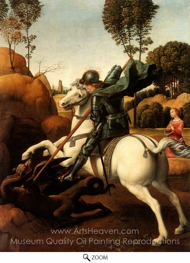 Raphael Sanzio, St. George and the Dragon oil painting reproduction