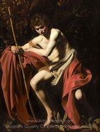 St. John the Baptist painting reproduction, Caravaggio