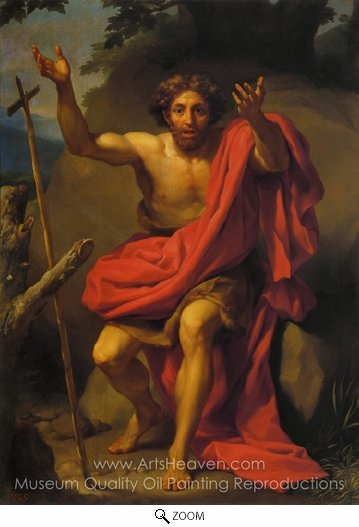 Anton Raphael Mengs, St. John the Baptist Preaching oil painting reproduction