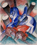 St. Julien L'Hospitalier painting reproduction, Franz Marc