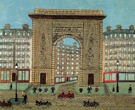 St. Martin's Gate painting reproduction, Louis Vivin