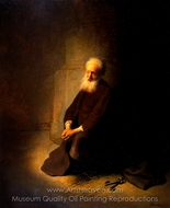 St. Peter in Prison (The Apostle Peter Kneeling) painting reproduction, Rembrandt Van Rijn