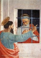 St. Peter Visited in Jail by St. Paul painting reproduction, Filippino Lippi