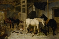 Stable Mates painting reproduction, John Frederick Herring Sr.