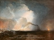 Staffa, Fingal's Cave painting reproduction, Joseph M. W. Turner