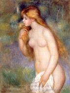 Standing Bather painting reproduction, Pierre-Auguste Renoir