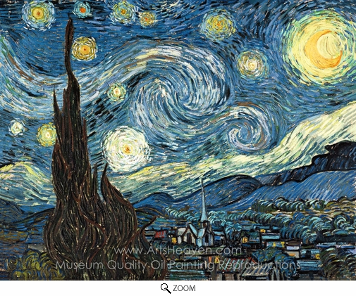 Vincent Van Gogh, Starry Night oil painting reproduction