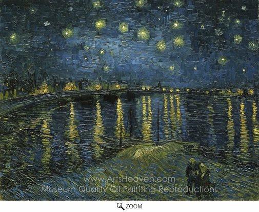 Vincent Van Gogh, Starry Night Over the Rhone oil painting reproduction