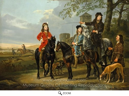 Aelbert Cuyp, Starting for the Hunt oil painting reproduction