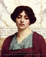 Stesicrate painting reproduction, John William Godward