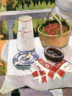 Still Life painting reproduction, Liubov Popova