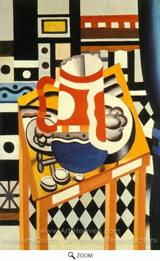Fernand Leger, Still Life with a Beer Mug oil painting reproduction