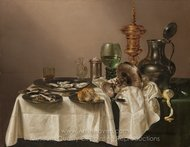 Still Life with a Gilt Cup painting reproduction, Willem Claesz. Heda