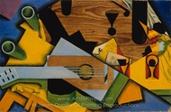 Still Life with a Guitar painting reproduction, Juan Gris