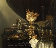 Still Life with a Nautilus Cup painting reproduction, Willem Claesz. Heda