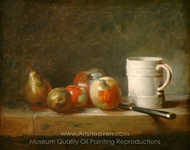 Still Life with a White Mug painting reproduction, Jean Simeon Chardin
