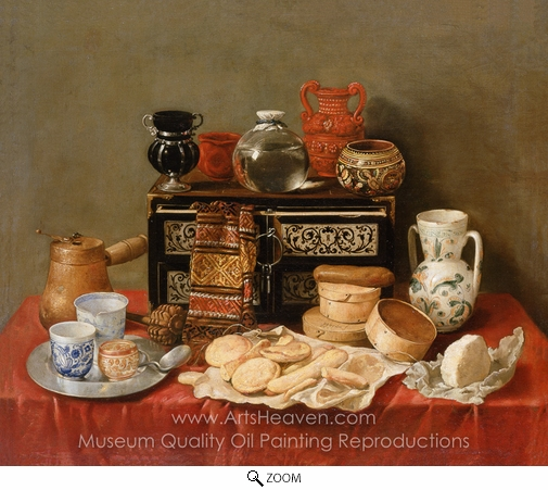 Antonio De Pereda, Still Life with an Ebony Chest oil painting reproduction