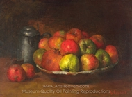 Still Life with Apples and a Pomegranate painting reproduction, Gustave Courbet