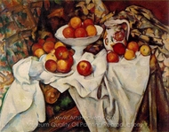 Still Life with Apples and Oranges painting reproduction, Paul C�zanne