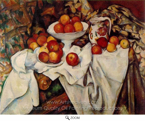 Paul Cézanne, Still Life with Apples and Oranges oil painting reproduction
