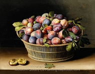 Still Life with Basket of Plums painting reproduction, Louise Moillon