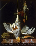 Still Life with Birds painting reproduction, Hendrik de Fromantiou