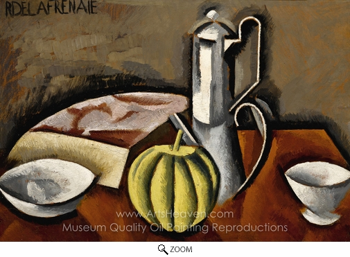 Roger De La Fresnaye, Still Life with Coffee Pot and Melon oil painting reproduction