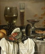 Still Life with Drinking Vessels painting reproduction, Pieter Claesz