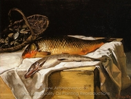 Still Life with Fish painting reproduction, Jean Frederic Bazille