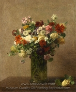 Still Life with Flowers painting reproduction, Henri Fantin-Latour