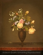 Still Life with Flowers painting reproduction, Martin Johnson Heade