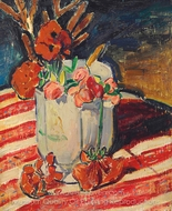 Still Life with Flowers painting reproduction, Alfred Henry Maurer