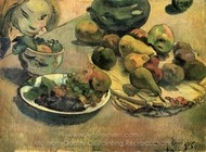 Still Life with Fruit painting reproduction, Paul Gauguin