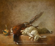 Still Life with Game painting reproduction, Jean Simeon Chardin