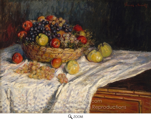 Claude Monet, Still Life with Grapes and Apples oil painting reproduction