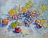 Still Life with Grapes, Apples, Pear and Lemons painting reproduction, Vincent Van Gogh