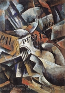 Still Life with Guitar painting reproduction, Liubov Popova