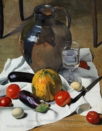 Still Life with Large Earthenware Jug painting reproduction, Felix Vallotton