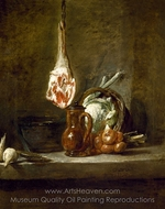 Still Life with Leg of Lamb painting reproduction, Jean Simeon Chardin