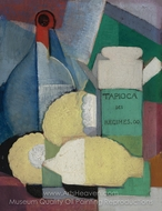 Still Life with Lemons and Tapioca painting reproduction, Angel Zarraga
