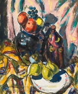 Still Life with Pears painting reproduction, Alfred Henry Maurer