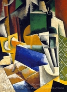 Still Life with Pears, Flowers and Cactus painting reproduction, Liubov Popova